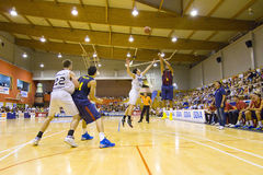 Basketball match Barcelona vs Joventut Royalty Free Stock Images