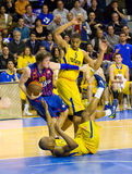Basketball match Barcelona vs Maccabi Royalty Free Stock Images