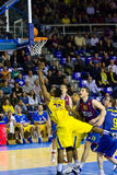 Basketball match Barcelona vs Maccabi Stock Photos
