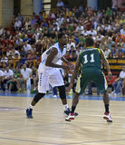 Basketball match, Cup Andalucia 2012 Royalty Free Stock Photos
