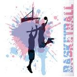 Basketball match on grunge background Stock Image