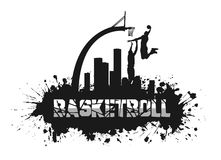 Basketball match on grunge background Royalty Free Stock Images