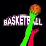 Basketball match illustration royalty free illustration