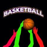 Basketball match illustration vector illustration