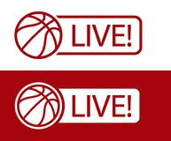 Basketball match LIVE broadcast icon vector illustration. Sport tv vector illustration
