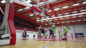 Basketball match stock footage