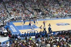 Basketball match Royalty Free Stock Photos
