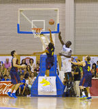 Basketball match Royalty Free Stock Photos
