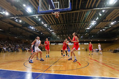 Basketball match (women) Royalty Free Stock Image