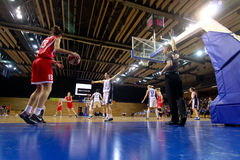 Basketball match (women) Royalty Free Stock Photography