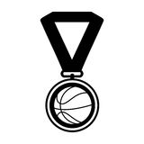 Basketball medal isolated icon. Vector illustration design Royalty Free Stock Photography