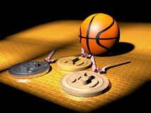 Basketball and medals Royalty Free Stock Image