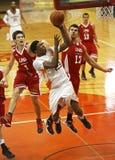 Basketball Men Players Jump Ball Royalty Free Stock Images
