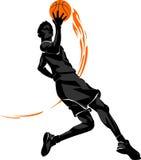 Basketball Mid-air Layup Flame Royalty Free Stock Photos