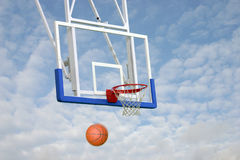 BasketBall missed Royalty Free Stock Photo