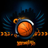 Basketball modern image. With the ball Royalty Free Stock Photo