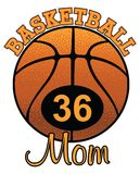 Basketball Mom With Number Stock Photo