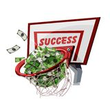 Basketball money field goal. successfull business concept -. Illustration Royalty Free Stock Photography