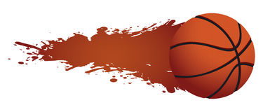 Basketball moving Royalty Free Stock Image