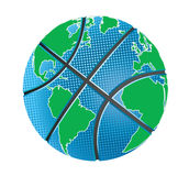 Basketball is my world. Basketball wolrd earth globe vector illustration Royalty Free Stock Photography