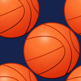 Basketball-nahtloses Muster Stockfotografie