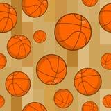 Basketball-nahtloses Muster Trägt zusätzliche Verzierung zur Schau Basketba Lizenzfreie Stockbilder