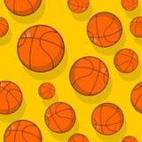 Basketball-nahtloses Muster Trägt zusätzliche Verzierung zur Schau Basketba Stockbilder