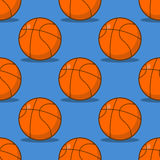Basketball-nahtloses Muster Trägt zusätzliche Verzierung zur Schau Basketba Stockbild