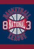 Basketball National League 83. On navy background Royalty Free Stock Photo