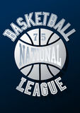 Basketball National League on a navy blue background Stock Photography