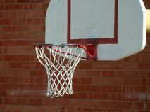 Basketball Net. A basketball net on a basket ball court Royalty Free Stock Image