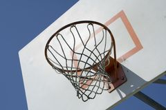 Basketball Net. At a city park Stock Photo