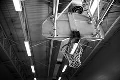 Basketball Net. In School Gymnasium Stock Photo