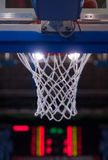 Basketball net. View of a detail of a modern basketball arena Stock Images