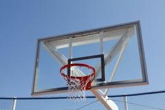 Basketball net. Against blue sky Royalty Free Stock Photos