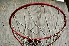 Basketball Net. On backboard in backyard royalty free stock photos
