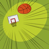 Basketball Into The Net Royalty Free Stock Images
