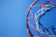 Basketball Net Against Blue Sky Royalty Free Stock Photos