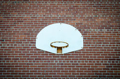 Basketball net on brick wall Stock Photos