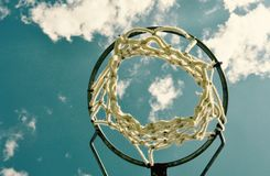 Basketball: Net Dreams in the Sky Royalty Free Stock Image