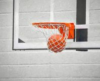 Basketball in net impressionism Royalty Free Stock Photography