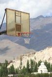 Basketball Net. Basketball Net In Mountain Background Stock Images