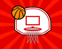 Basketball Net. A vector illustration of a basketball net and hoop Stock Photography