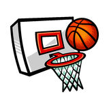 Basketball Net. A vector illustration of a basketball net and hoop Royalty Free Stock Photo