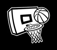 Basketball Net. A vector illustration of a basketball net and hoop Royalty Free Stock Image