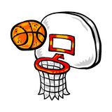 Basketball Net. A vector illustration of a basketball net and hoop Royalty Free Stock Photography