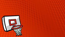 Basketball Net. A vector illustration of a basketball net and hoop Royalty Free Stock Images