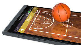 Basketball and new communication technology Stock Photos