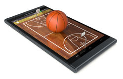 Basketball and new communication technology Stock Photography