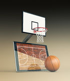 Basketball and new communication technology Stock Images